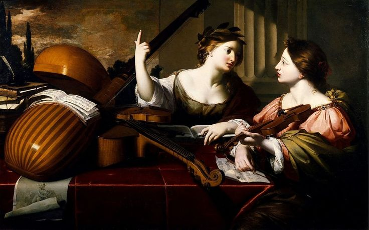 ♪ The Musical Arts ♪ music musician paintings - Nicolas Regnier | Divine inspiration of Music