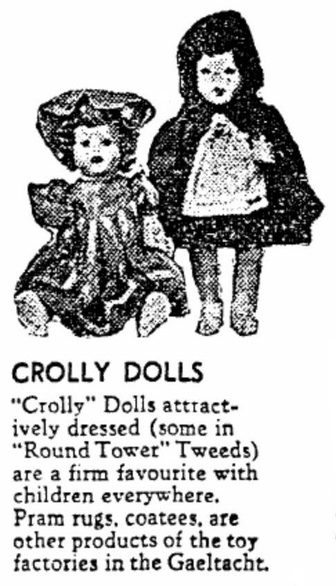Crolly Dolls in a 1955 newspaper article