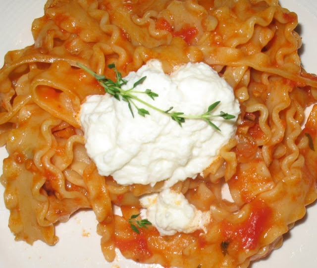 Annas Table: Mafalda Pasta with Ricotta Cheese