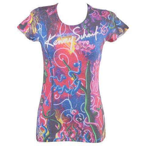 Γυναικείο T-shirt μώβ ''Batterflay'' Keny Scharf  http://brands4all.com.gr/collections/t-shirts