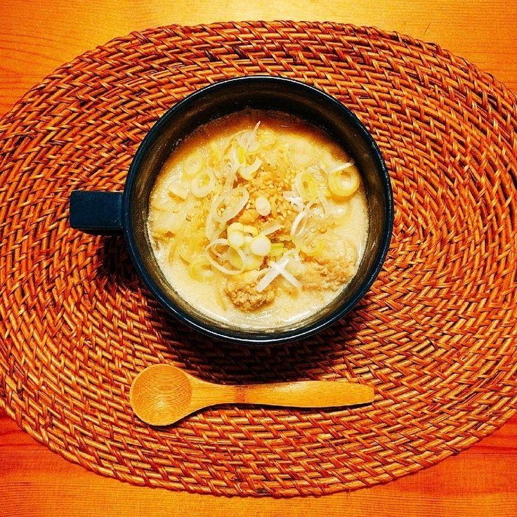 茅乃舎だしで!白菜と鶏つみれの豆乳スープ by kramy 【クックパッド】 簡単おいしいみんなのレシピが282万品