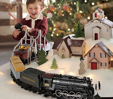 Lionel Pennsylvania Flyer G-Gauge Train Set...I can't wait for the Christmas when they are old enough that I can buy them an under-the-tree train set.