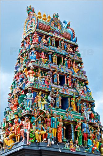 Poster Hindu Tempel Singapur