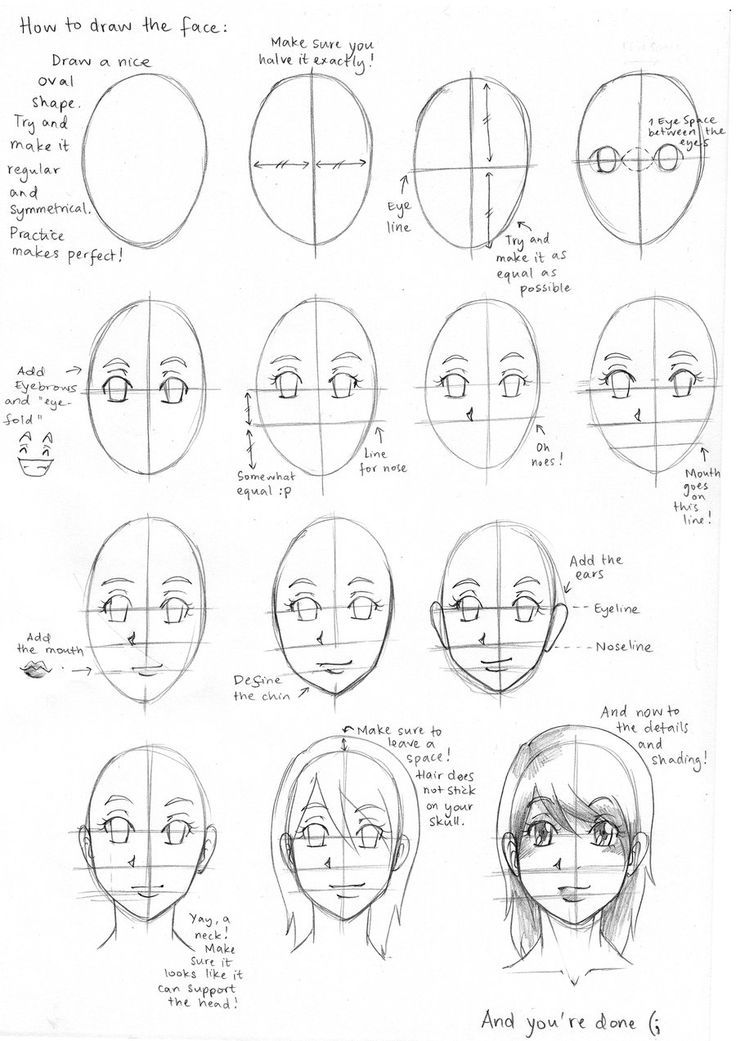 Image result for anime worksheets Drawing expressions