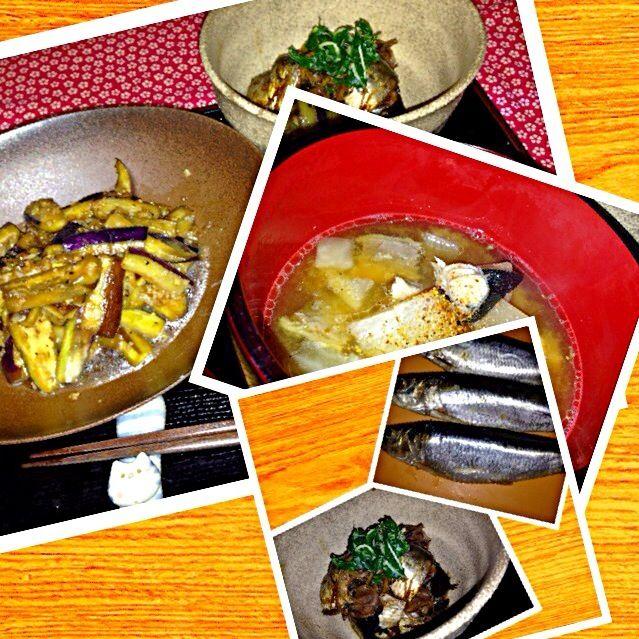 丸々したイワシを圧力鍋で梅肉煮を  なすの薬味炒めと共に。   コラーゲンたっぷりの煮こごりもろともいただきたい、と、 残りわずかなぶりアラを一口大にして味噌汁にして。   今日は休肝日。  お酒が合うんだよね〜(≧∇≦) - 47件のもぐもぐ - イワシの梅肉煮となすの薬味炒めに、ぶりアラの味噌汁 by boulderopal