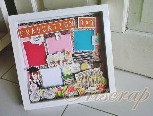 Scrapframe size 25x25 cm graduated ready stock