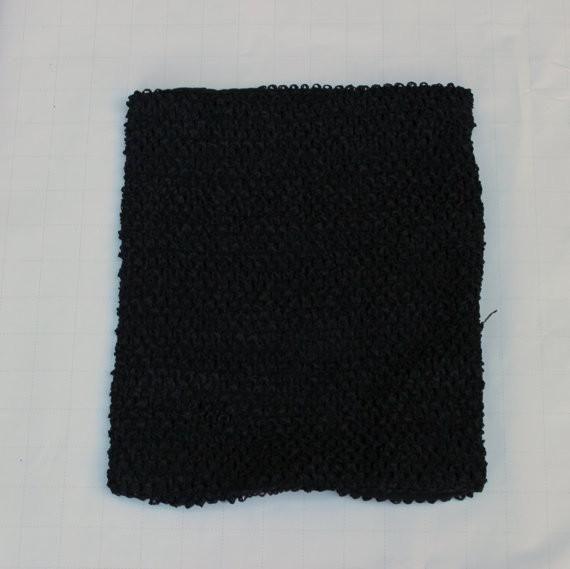 Black crochet tutu top - Black tutu top lined - crochet top - waffle crochet top