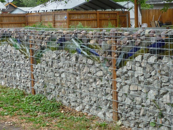 10 best fences for the roof top images on pinterest wood for Bottle fence