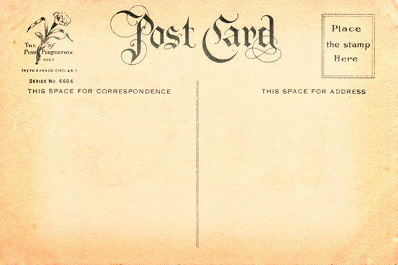 Postcard Backs To Download Vintage Postcard Back 7 In Hi Res