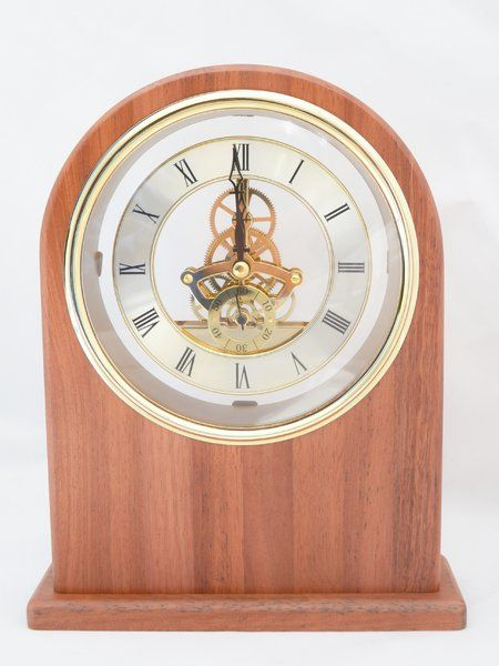 #Jarrah #Clock large with visible moving cogs and roman numeral #time piece $132.00 www.ozwood.com.au