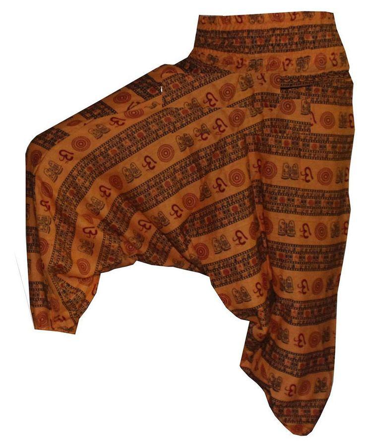 INDIAN ALI BABA HAREM  TROUSER BAGGY GYPSY BOHO HIPPIE YOGA MEN WOMEN PANTS #Handmade #Harem