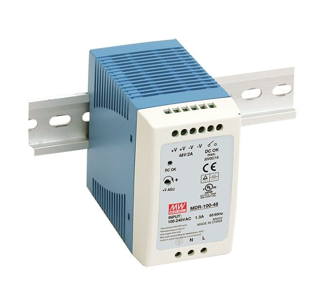 [PowerNex] MEAN WELL original MDR-100-24 24V 4A meanwell MDR-100 24V 96W Single Output Industrial DIN Rail Power Supply