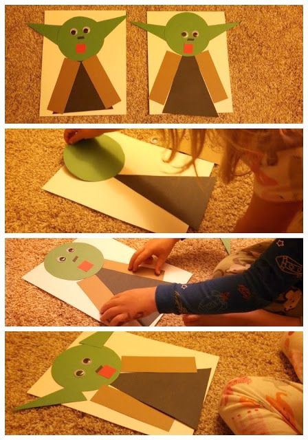 Toddler Approved!: Star Wars Yoda Shape Craft