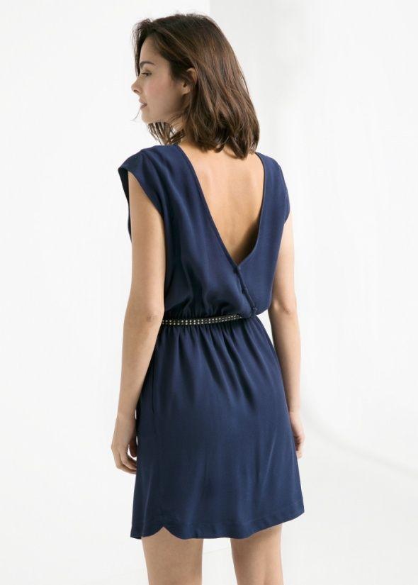 zdjęcie Sukienka Mango S XS Ozdobne plecy minimalistyczna w pełnej rozdzielczości