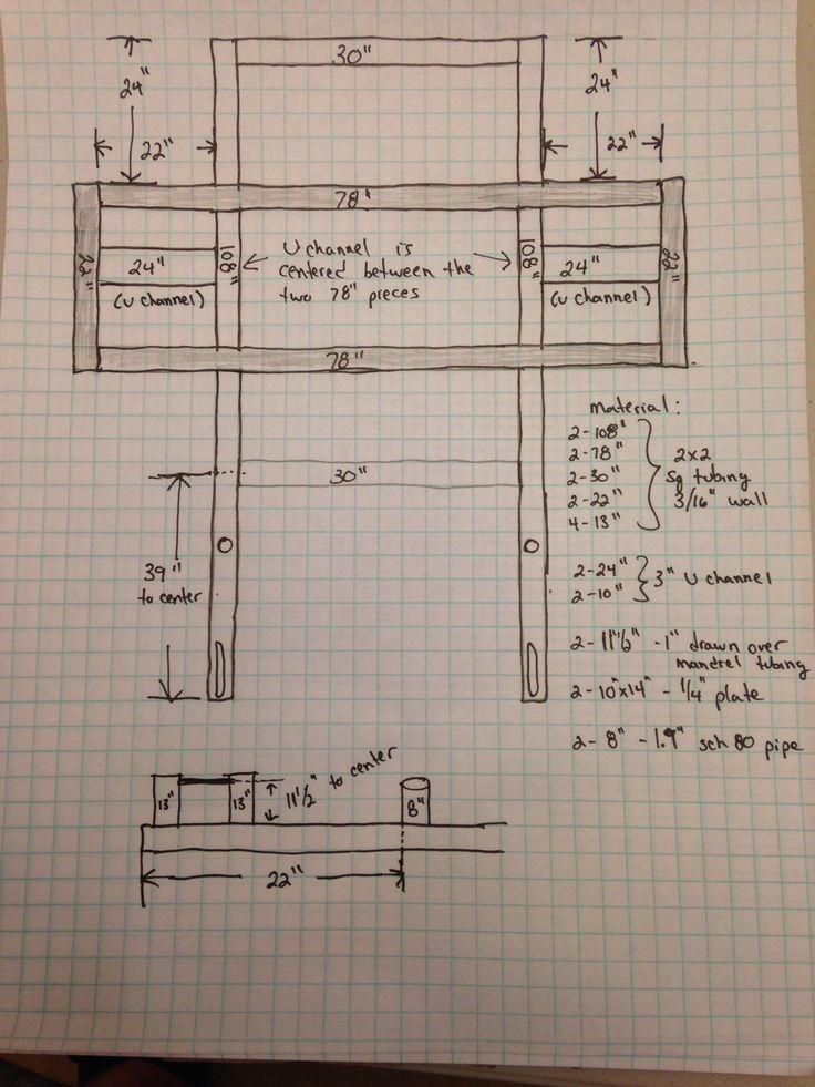 Car deadlift frame schematics strongman diy cardeadlift for How to make a blueprint