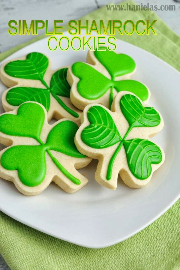 Haniela's: Simple Shamrock Cookies for Saint Patrick's Day