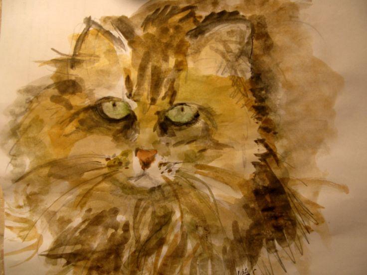 Sketch in watercolor.