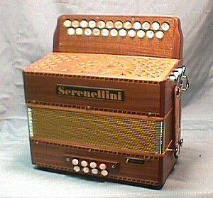acordeon diatonico de 2 hileras