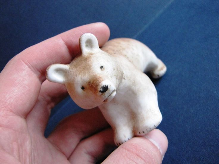 USSR Soviet Latvia Lettland Riga porcelain figurine bear Art Deco Brown PFF #ArtDeco #PFF