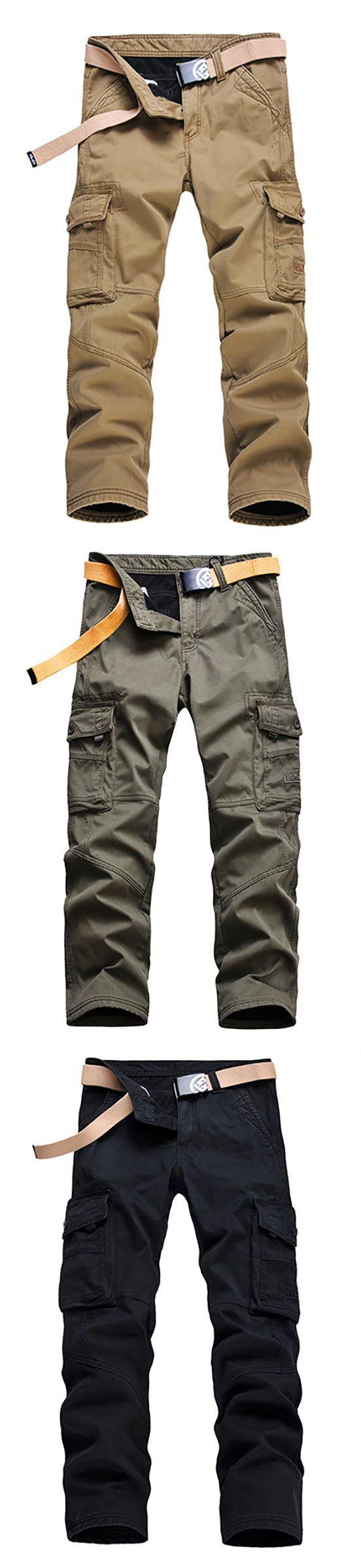 Winter Warm Thick Cargo Pants/Fleece Lined Casual Trouser #men #menswear #menoutfits