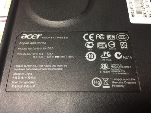 Genuine Acer Aspire One ZG5 Keyboard AEZG5R00010