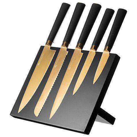 Buy Viners 6-Piece Magnetic Knife Block, Titan Gold Online at johnlewis.com