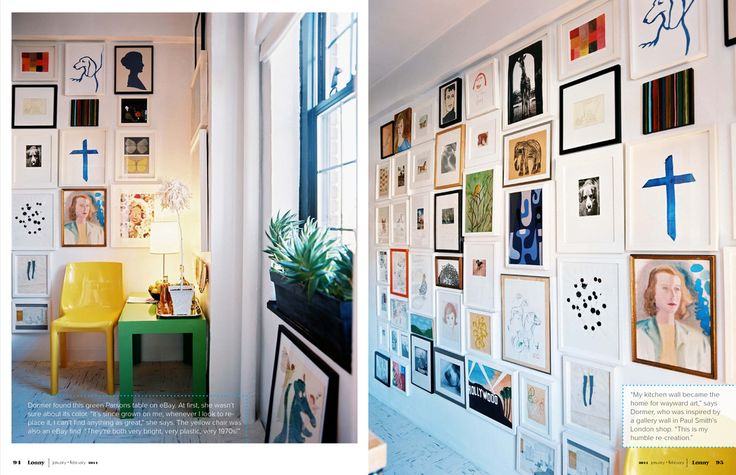 to the ceiling!Wall Art, Wall Decor, Decor Ideas, Gallery Walls, Wall Projects, Frames Wall, Kids Artworks, Art Wall, Lonny Magazine