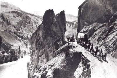 Cariboo Road, blasted out via the Royal Engineer Corps.