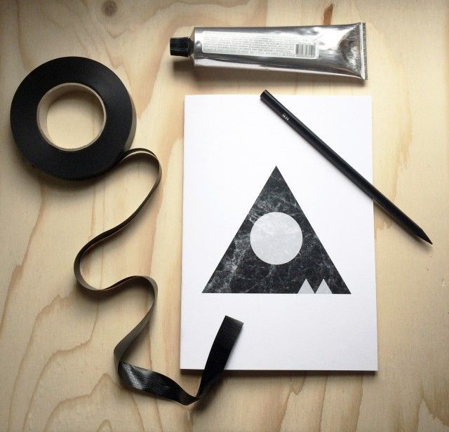Marble Marvel notebook by SB Studio #nordicdesigncollective #nordic #nordicdesign #autumn #backtoschool #backtowork #schoolstart #notebook #marble #marblemarvel #marvel #triangle #circle #sbstudio #geometrical #write #note #paper #print #pen #ink #tape