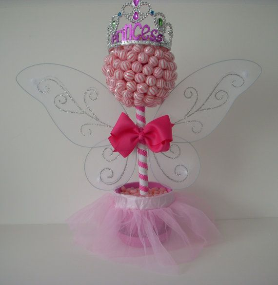 Click here for more lollipop arrangements and bouquets! Small Lollipop Fairy Princess Topiary by EdibleWeddings on Etsy, $54.99. Pink, Lollipop, Topiary, Lollipop Tree, Fairy, Princess, Birthday, Girl, Sweet 16, sixteen, quinceanera, custom, customizable, tiara, birthday girl