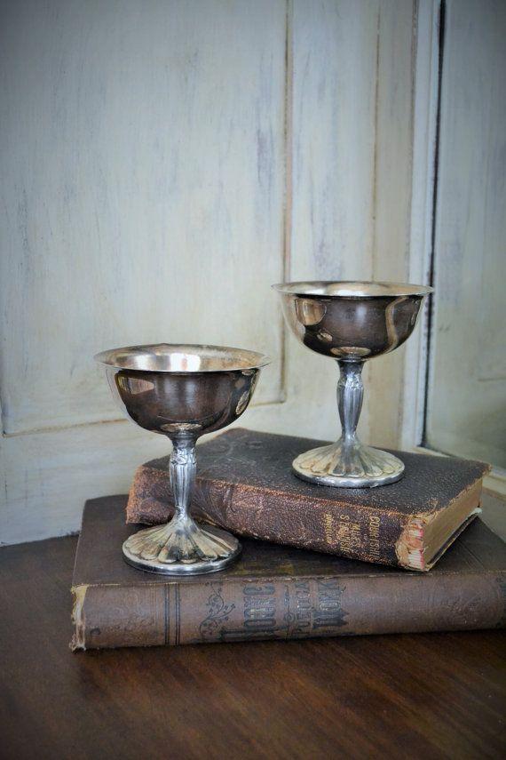 Vintage International Silver Co. Silver Goblets | Heavy ...