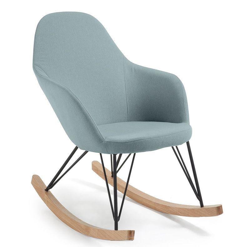 Teresa schommelstoel blauw - LaForma