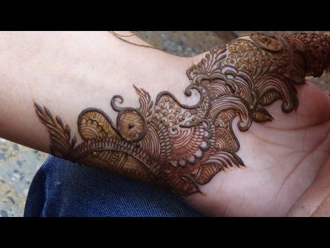 Pakistani Indo Arabic Mehndi Design:Mehendi For Upper Side(Full Hand) - YouTube