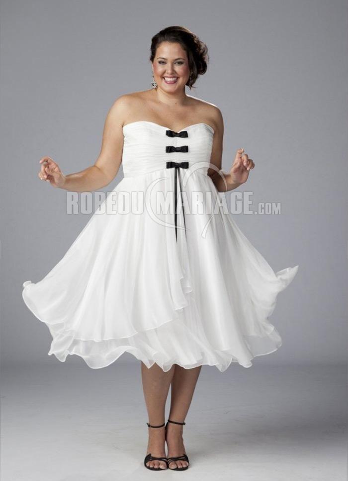 Nouvelle Arrivée : Robe de mariée courte grande taille  Prix : €146,99 Lien : http://www.robedumariage.com/robe-de-mariage-pas-cher-tulle-ceinturecol-en-coeur-empire-product-7447.html