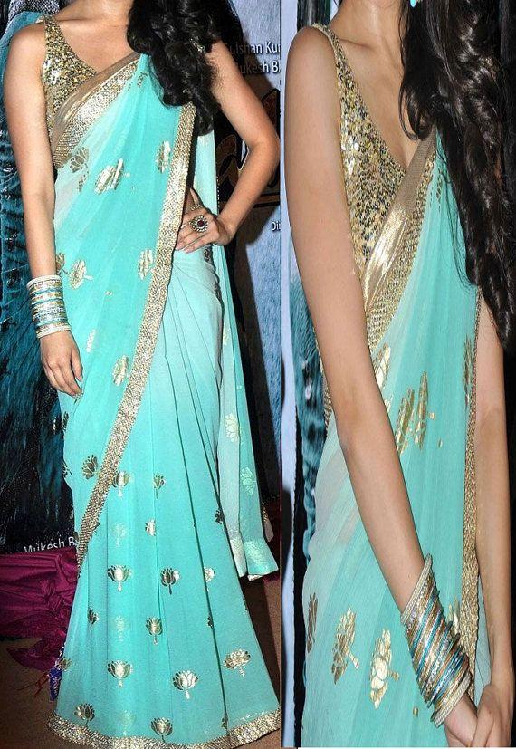 Beautiful Bollywood designer saree, Sari, Indian Traditional wear saree,  Indian Clothing
