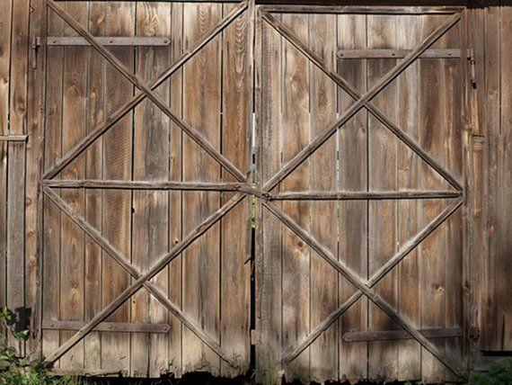 Shabby Old Wood Barn Door Photodrops Children Portraits