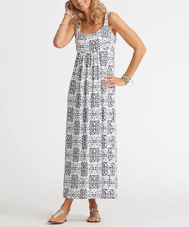 This White Mariposa Malibu Maxi Dress is perfect! #zulilyfinds