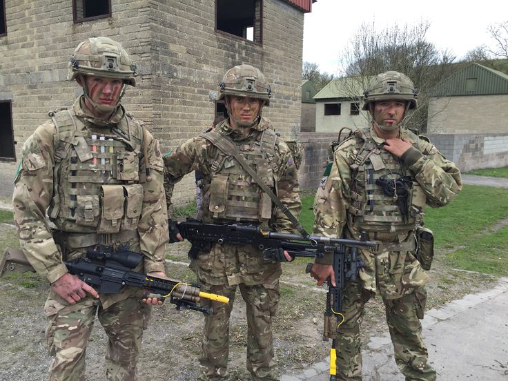Soldiers of 3rd Battalion The Parachute Regiment wearing Virtus on Exercise Griffin Strike.