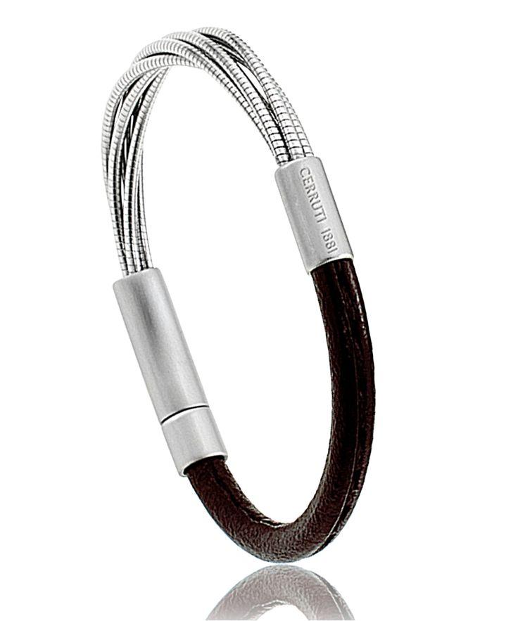 Bracelet Cerruti Borghèse marron http://www.bijoux-pour-homme.eu/bracelet-cerruti-borghese-marron-p-19339.html