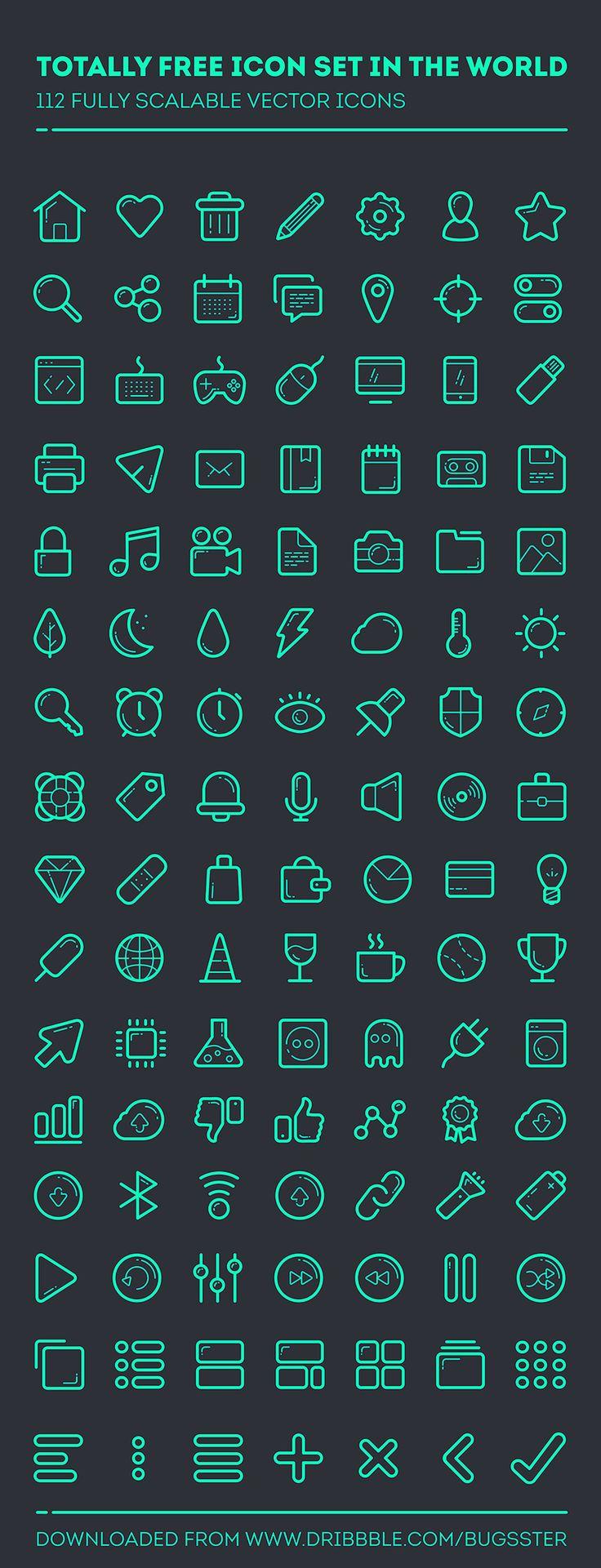 Line set - 112 icons by Taras Shypka