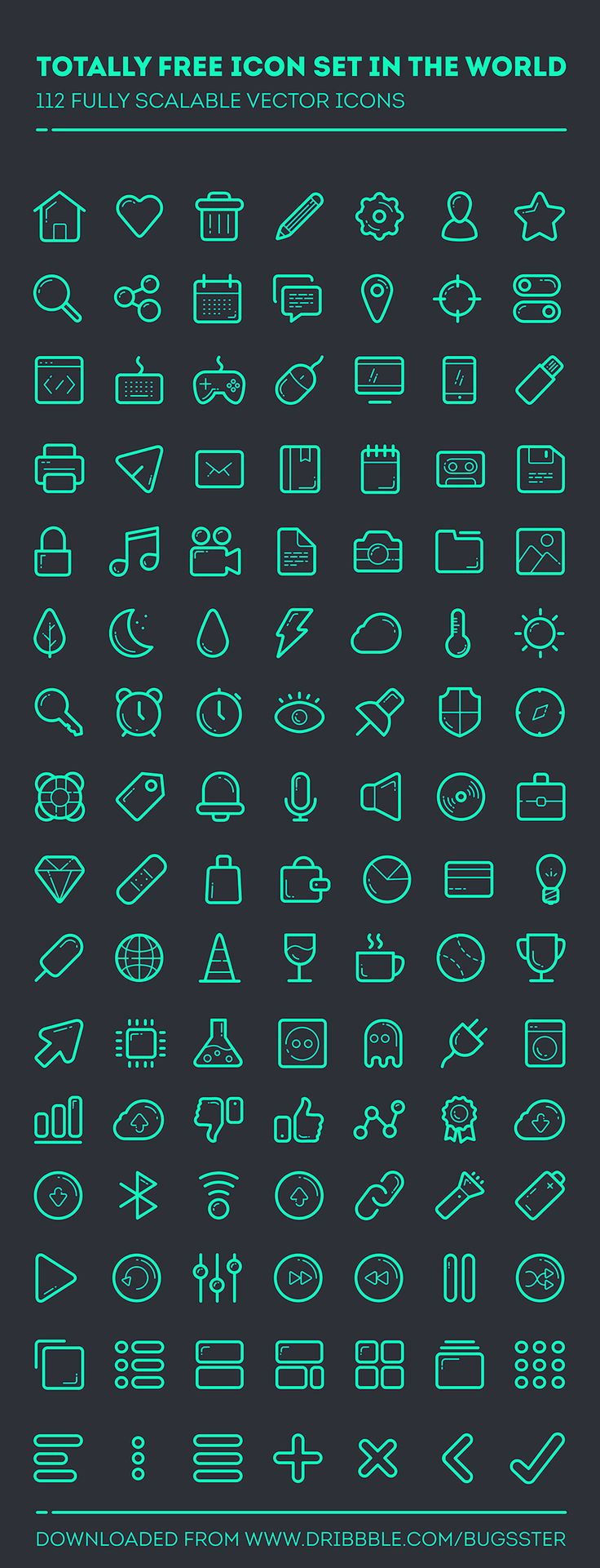 Line set - 112 icons by Taras Shypka