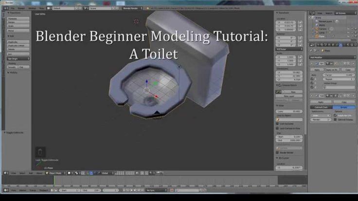 Blender Character Modeling Beginner : Blender b beginner modeling tutorial a toilet
