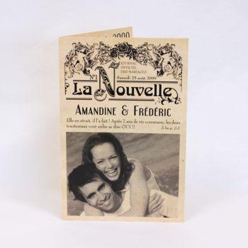 faire part mariage journal vintage fm04 vin 2 faire part pinterest mariage journaux. Black Bedroom Furniture Sets. Home Design Ideas