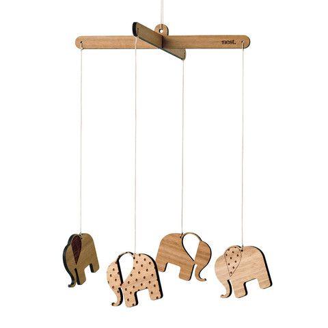 Nest Accessories - Elephants Nursery Mobile - Nest