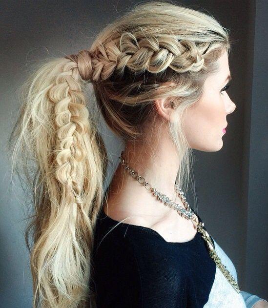 Gorgeous braided ponytail