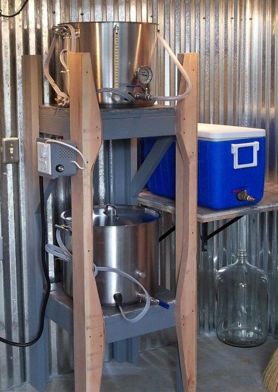 This guy built a shed to brew in. Wow.