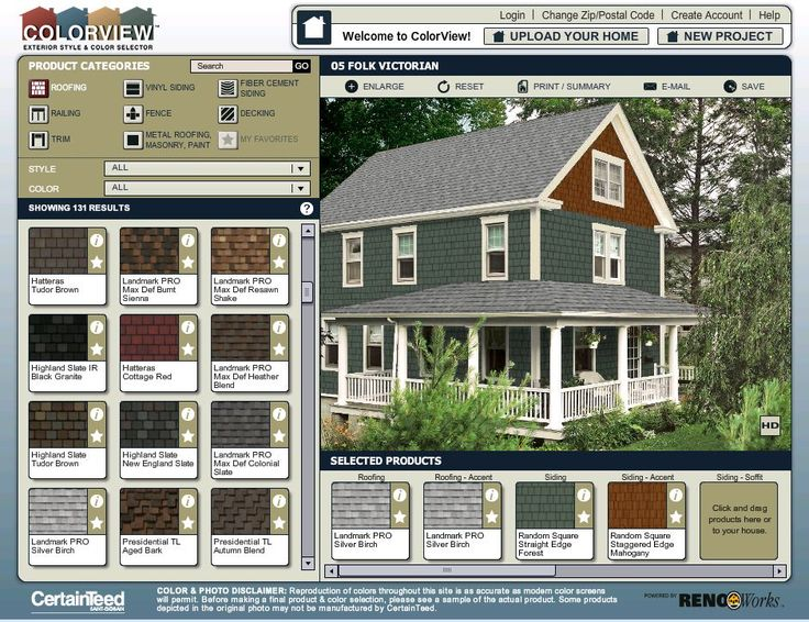 Colorview exterior style and color visualizer try out - Roof house color combinations ...