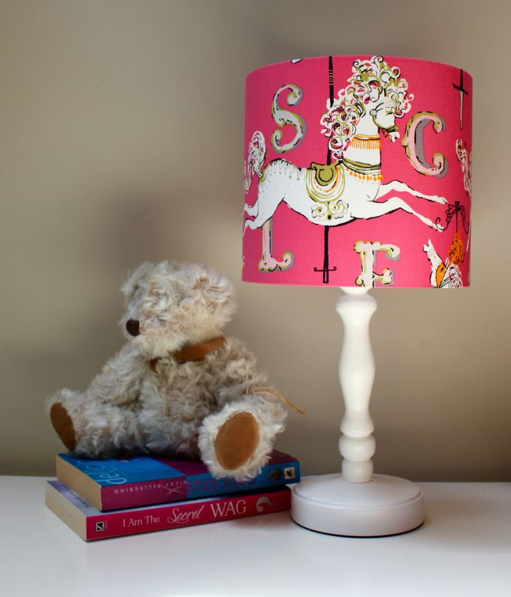 Oh such a great lampshade for a girls room.