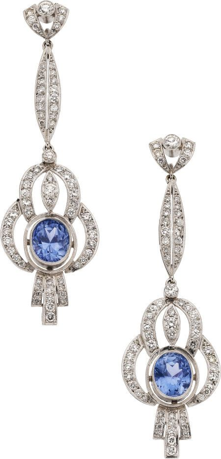 Honeymoon & Destination Wedding Planning  https://www.facebook.com/AAHsf  Sapphire, Diamond, Platinum Earrings