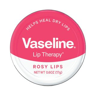Vaseline Lip Therapy Tins in Rosy Lips, $4; at drugstores